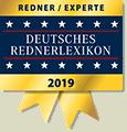 Redner & Experte im Deutsches Rednerlexikon 2019
