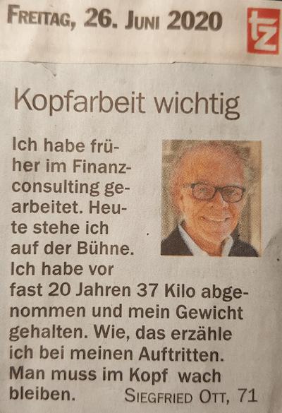 Siegfried Ott - Kopfarbeit wichtig